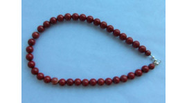 Collar de Jaspe rojo (10mm)