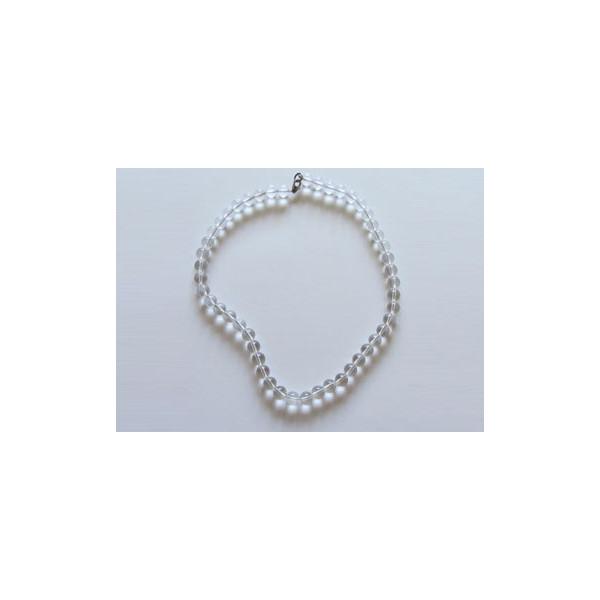 Collar de Cuarzo cristal de roca (8mm)