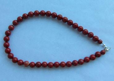 Collar de Jaspe rojo (8mm)